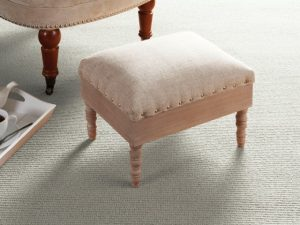 Wroxeter Storage Footstool in a natural finish (closed)